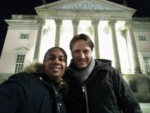 Kevin und Frederik in der Oper unter den Linden Berlin